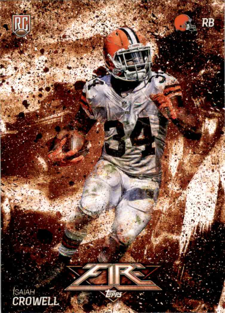 2014 Topps Fire Isaiah Crowell RC #138 card front image