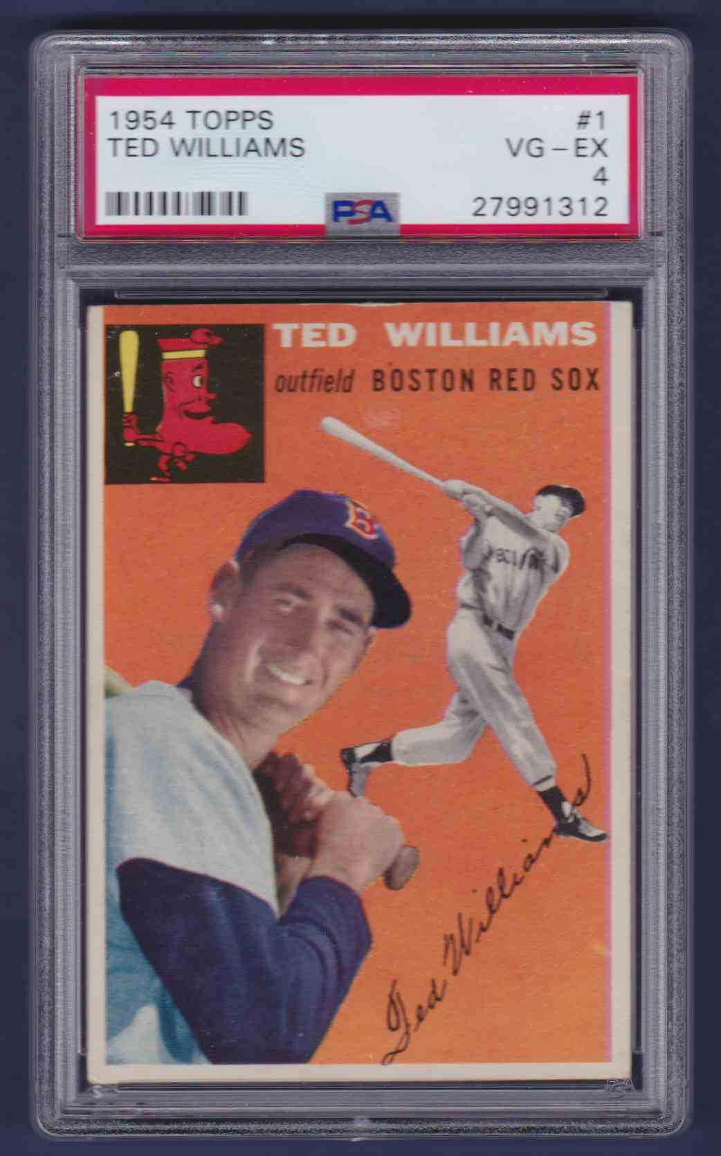 1954 Topps Ted Williams #1 card front image