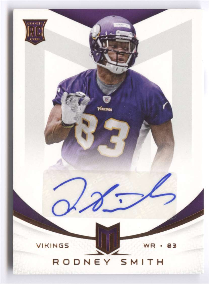 2013 Panini Momentum Rookie Signatures Rodney Smith #179 card front image