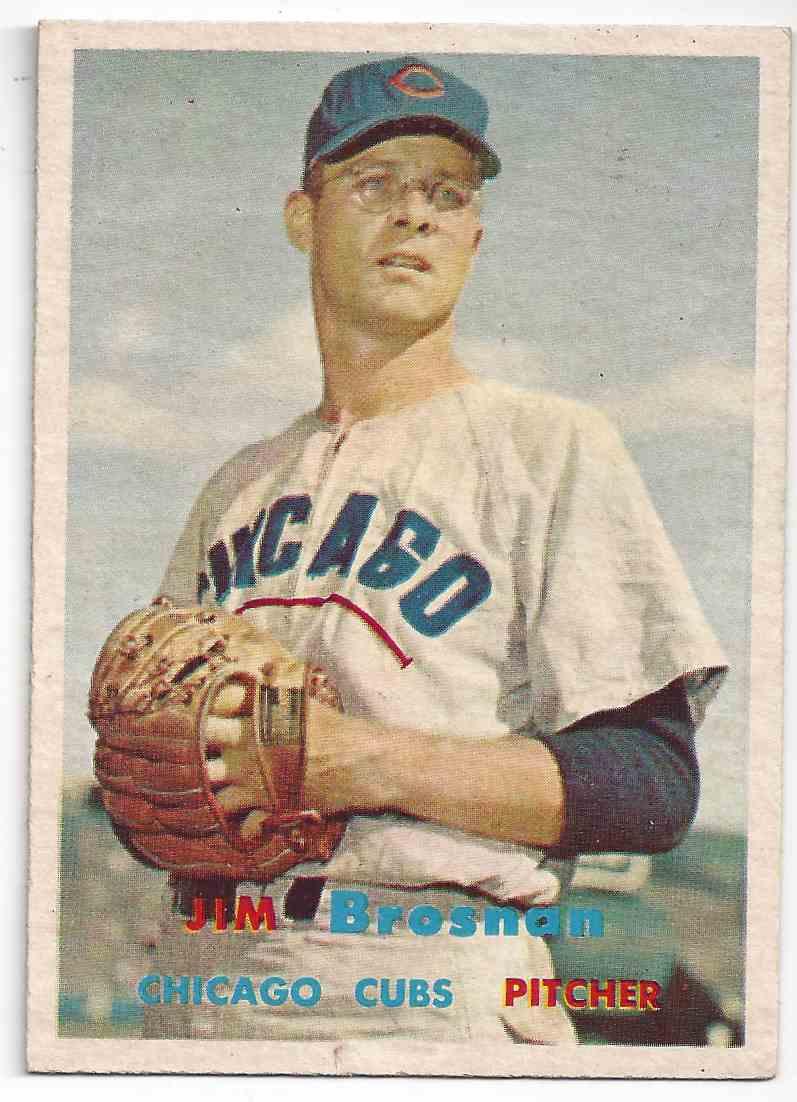 1957 Topps Jim Brosnan #155 card front image