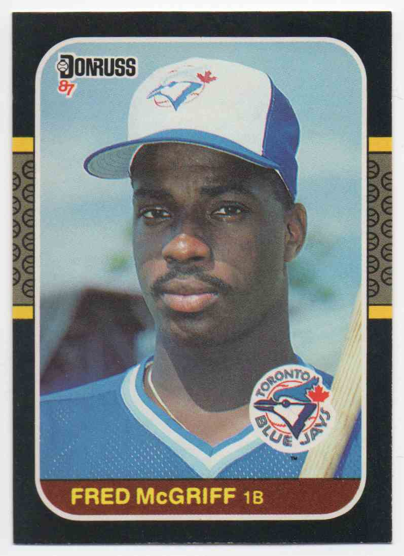 1987 Donruss Fred McGriff #621 card front image