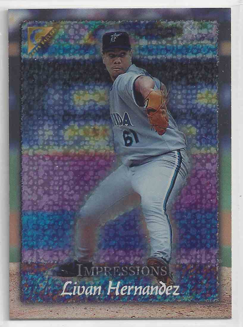 1998 Topps Gallerry Impressions Livan Hernandez #147 card front image