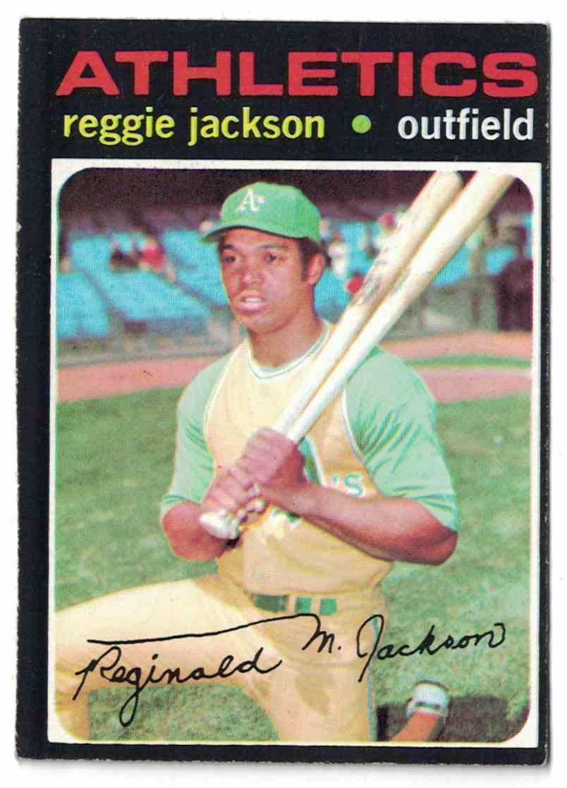 1971 Topps Reggie Jackson EX+ #20 card front image
