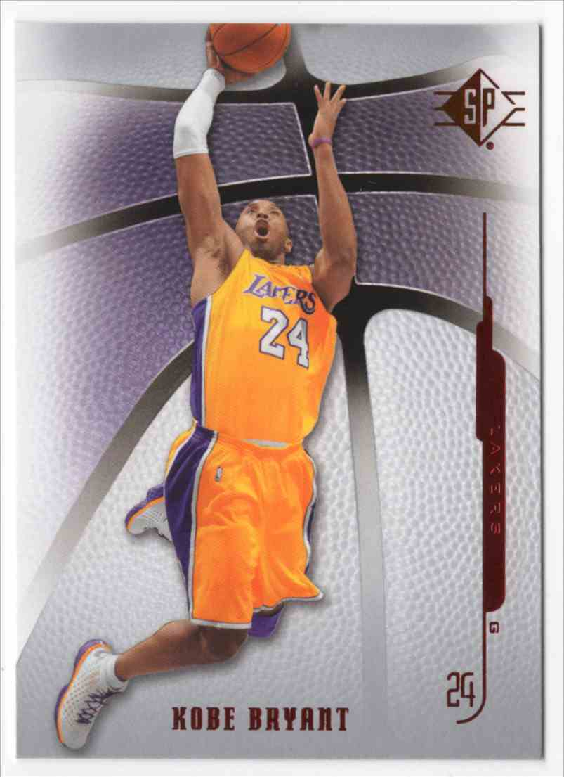 2008-09 SP Authentic Kobe Bryant #89 card front image