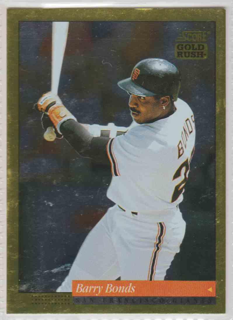 1994 Score Gold Rush Barry Bonds #1 card front image