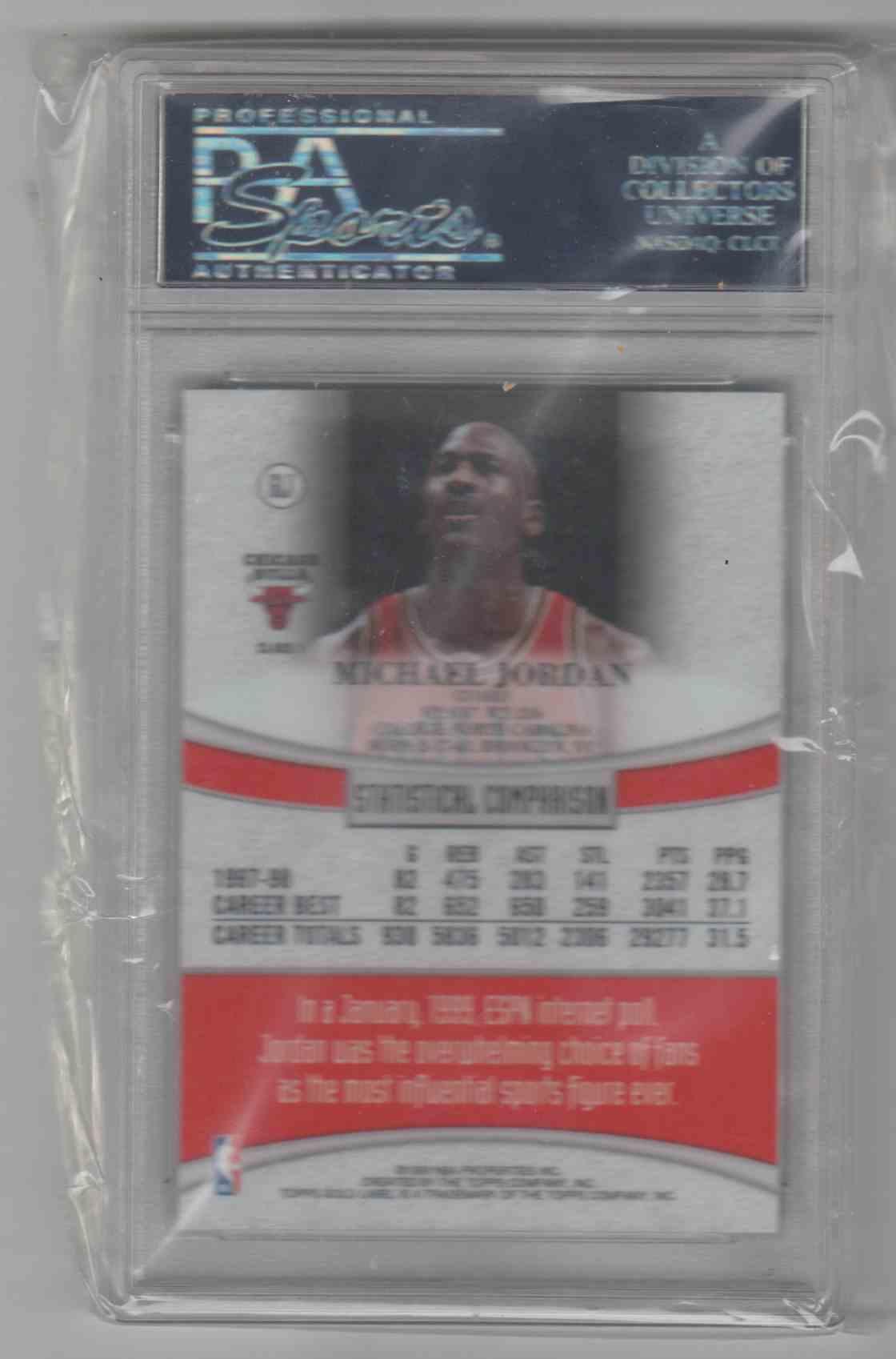 1998-99 Topps Gold Label Michael Jordan #GL1 card back image
