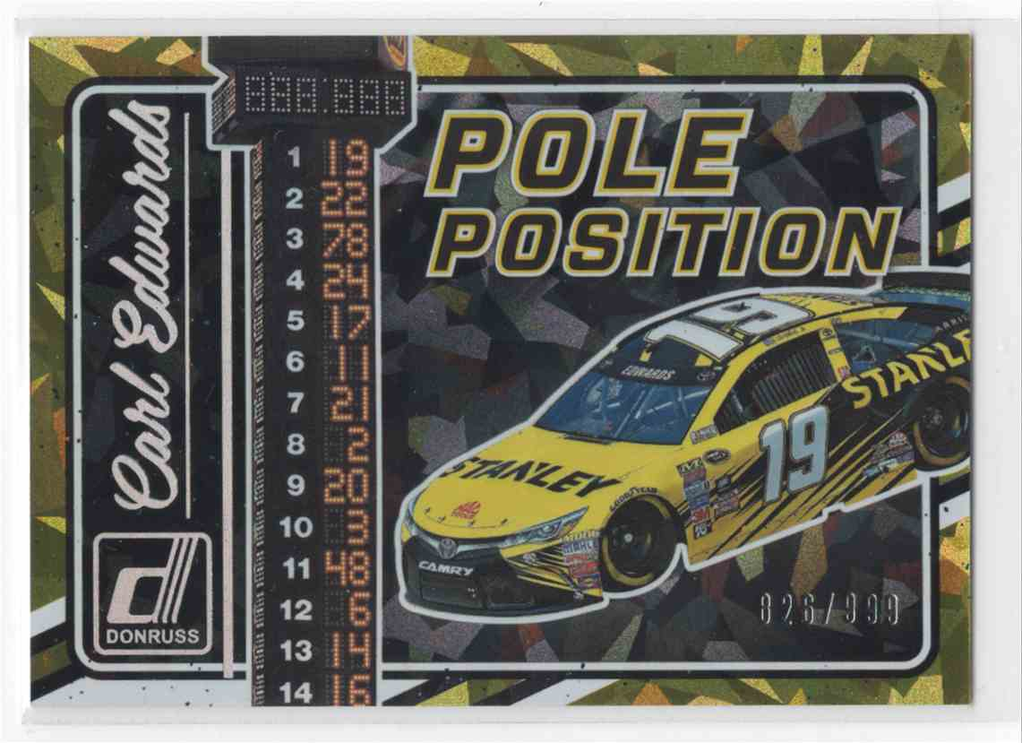 2017 Panini Donruss Racing Carl Edwards #PP1 card front image