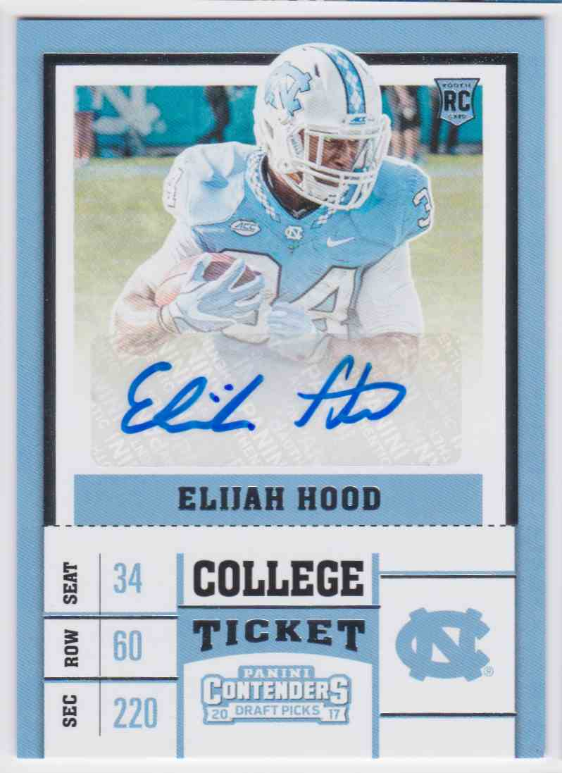 timeless design a0406 81ee3 2017 Panini Contenders Panthers Elijah Hood #138 on ...