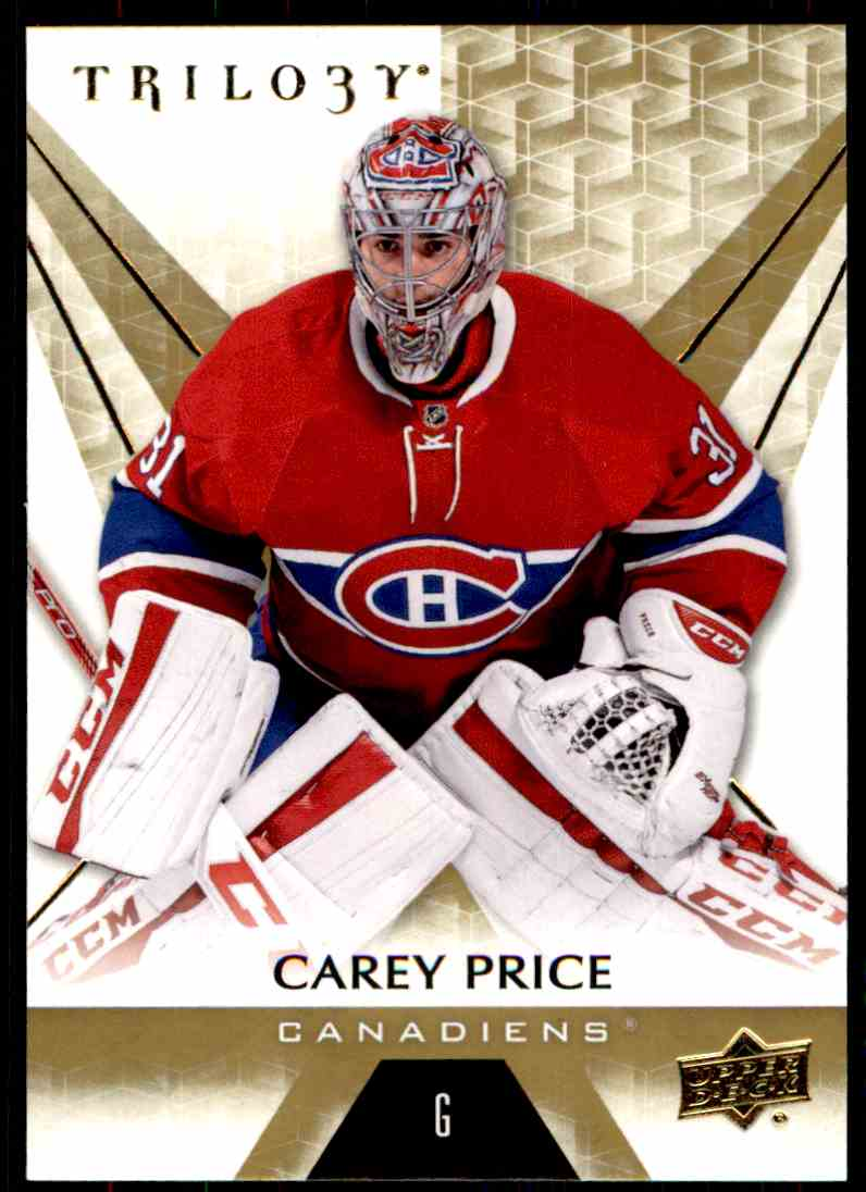2016-17 Upper Deck Trilogy Carey Price #20 card front image