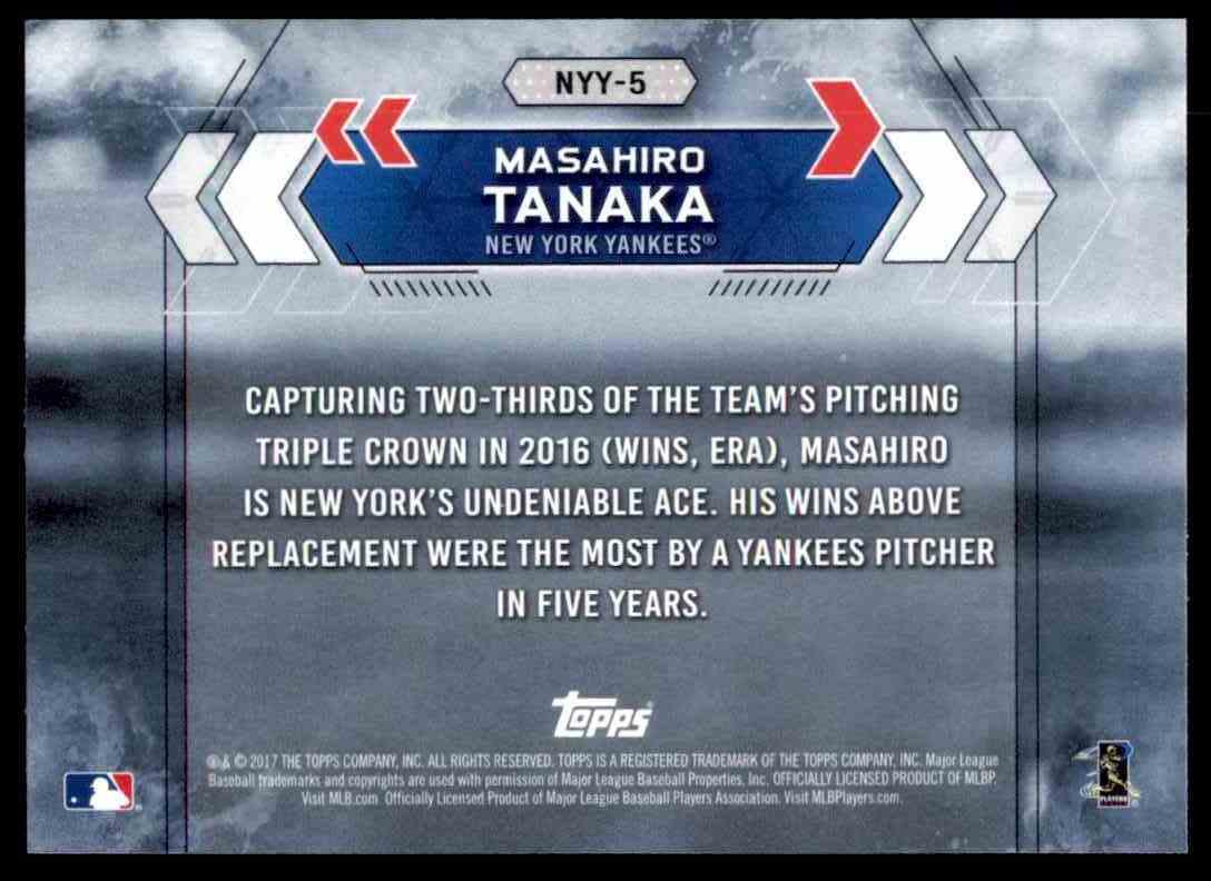 2017 Topps National Baseball Card Day Masahiro Tanaka Nyy 5