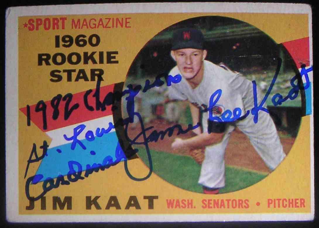 1960 Topps Jim Kaat #136 card front image