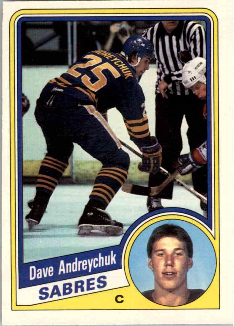 1984-85 O-Pee-Chee Dave Andreychuk #17 card front image