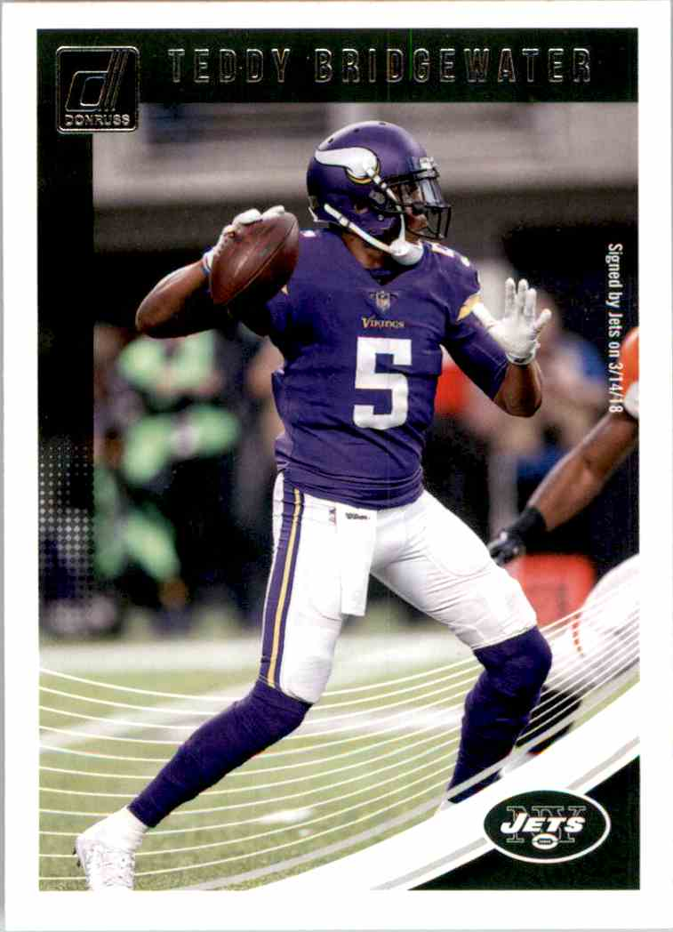 2018 Donruss Teddy Bridgewater #54 card front image