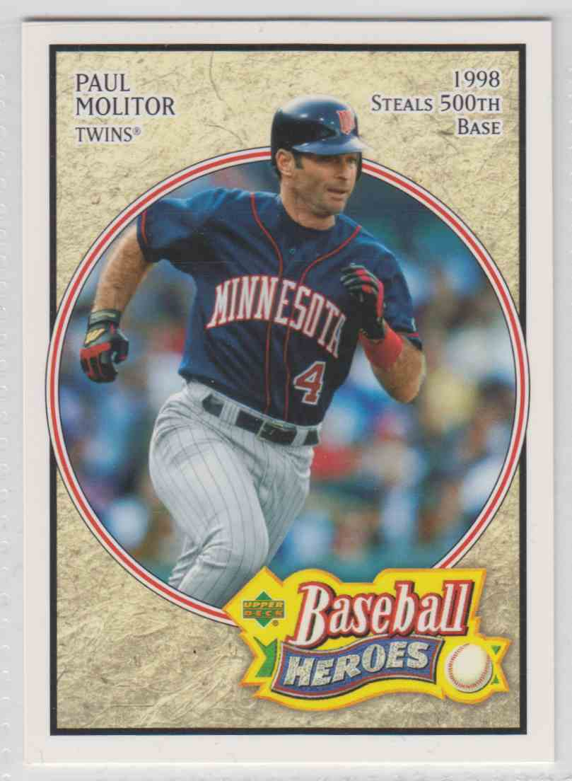 2005 Upper Deck Baseball Heroes Paul Molitor 54 On