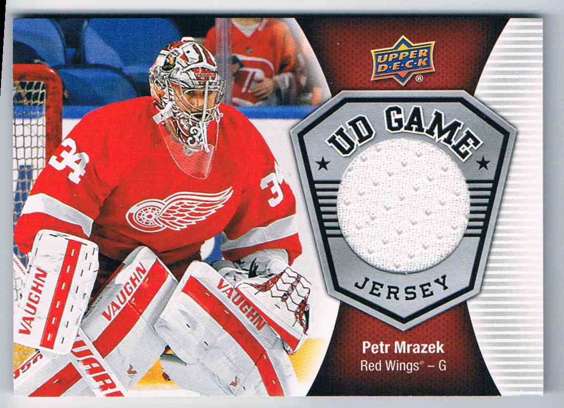 new product 8c90a 85154 2016-17 Upper Deck UD Game Jersey Petr Mrazek #GJ-PM ...