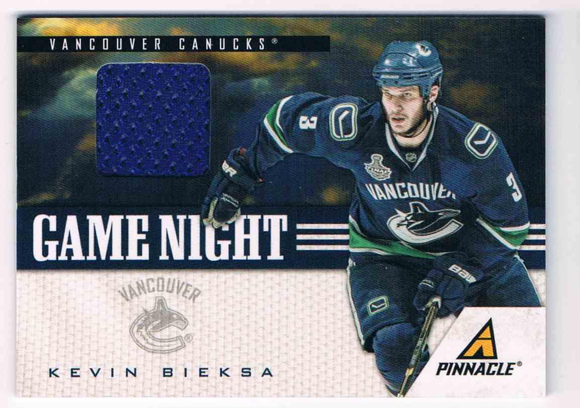 2011-12 Pinnacle Game Night Kevin Bieksa #19 card front image