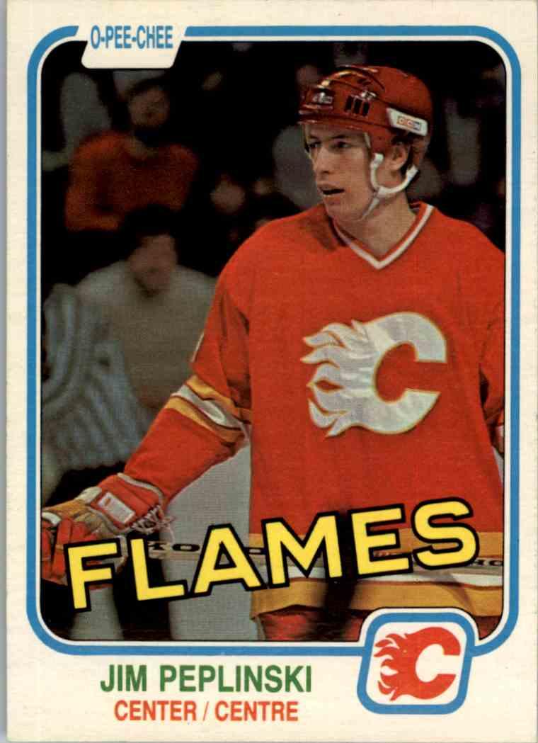 1981-82 O-Pee-Chee Jim Peplinski #49 card front image