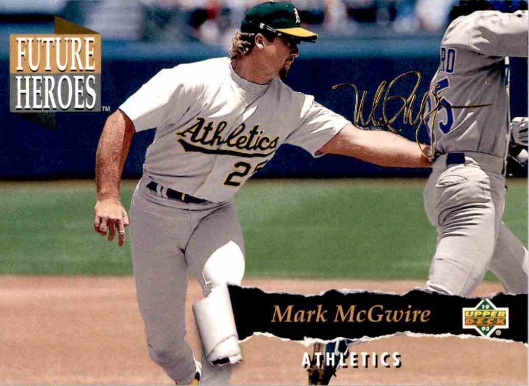 1993 Upper Deck Series 2 Future Heros Mark McGwire #60 card front image