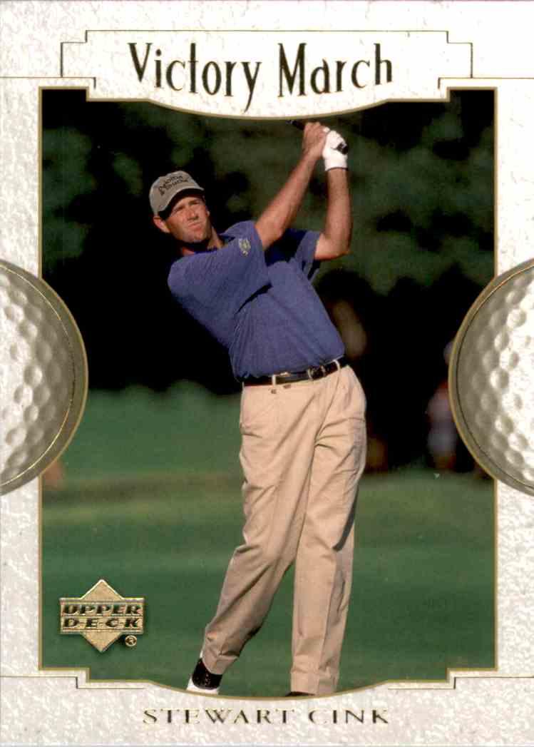 2001 Upper Deck Stewart Cink VM #158 card front image