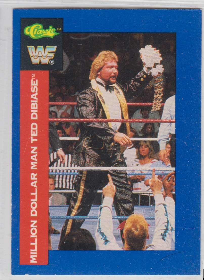 1991 Classic WWF Superstars Million Dollar Man Ted Dibiase #132 card front image