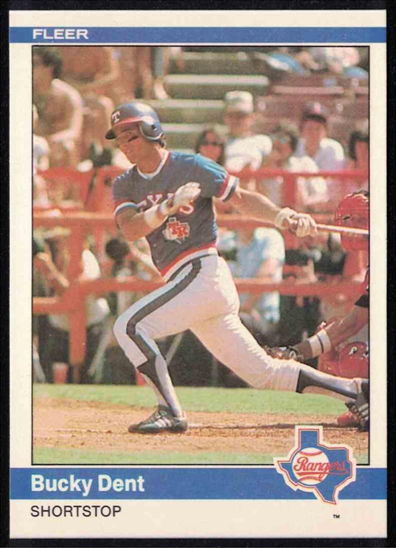 1984 Fleer Bucky Dent MT #417 card front image