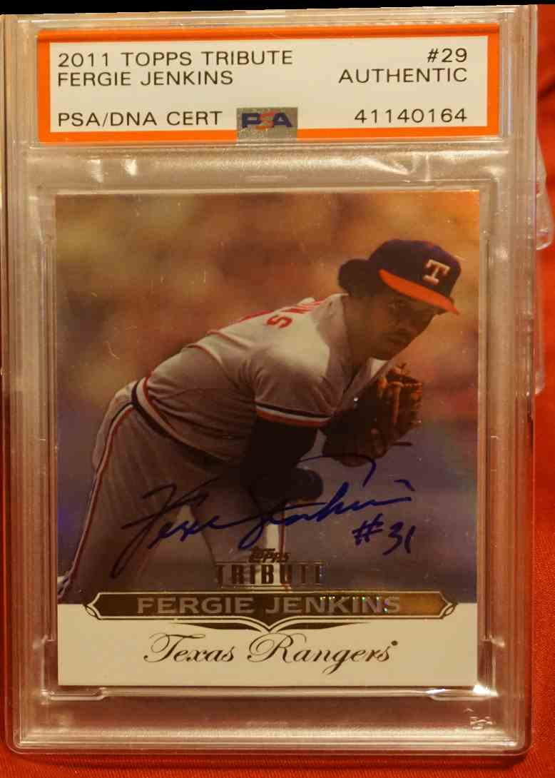 2011 Topps Tribute PSA/DNA Fergie Jenkins card front image