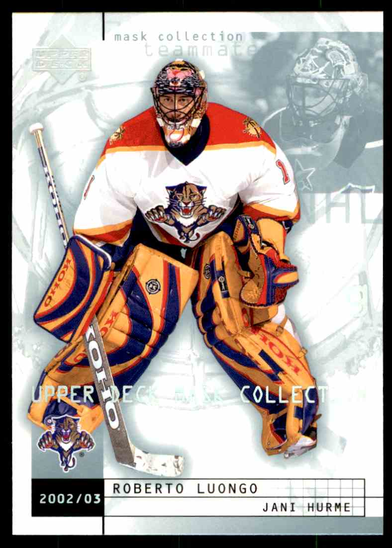 2002 03 Upper Deck Mask Collection Jani Hurme Roberto Luongo