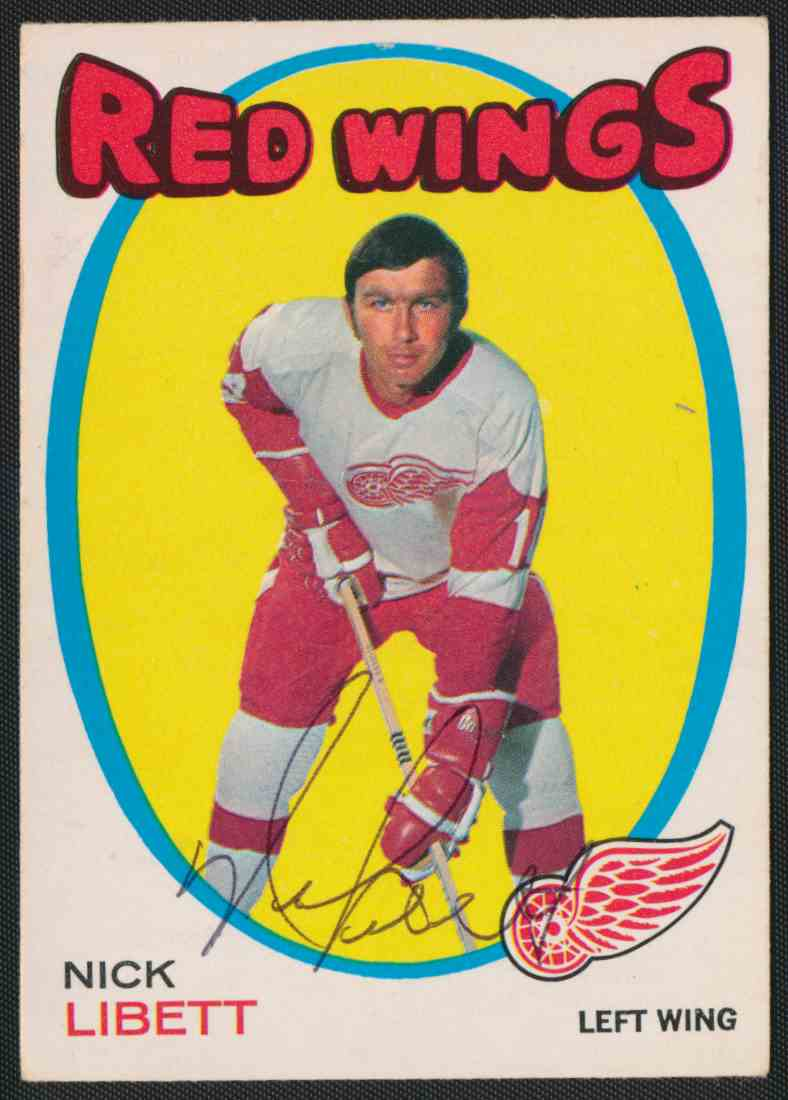 1971-72 O-Pee-Chee Nick Libbett #140 card front image