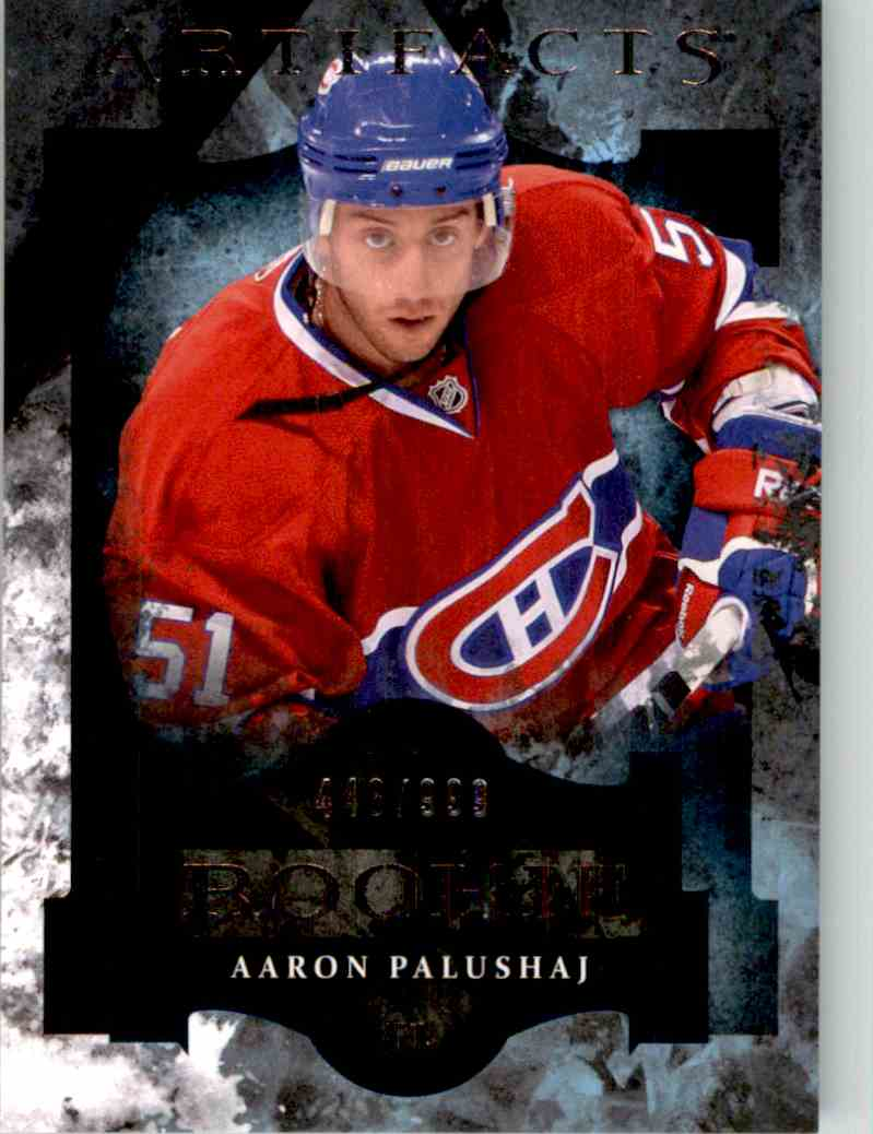 2011-12 Upper Deck Artifacts Aaron Palushaj #168 card front image