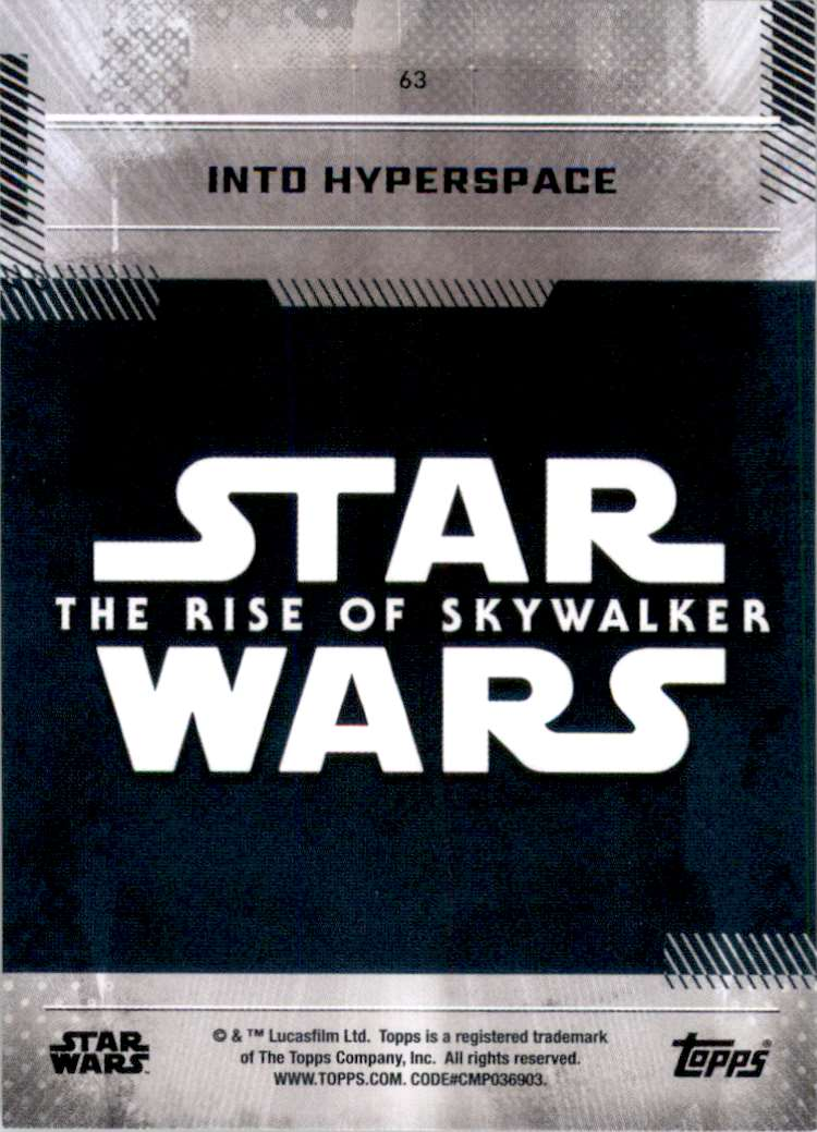 2019 Star Wars The Rise Of Skywalker Series One Into Hyperspace #63 card back image