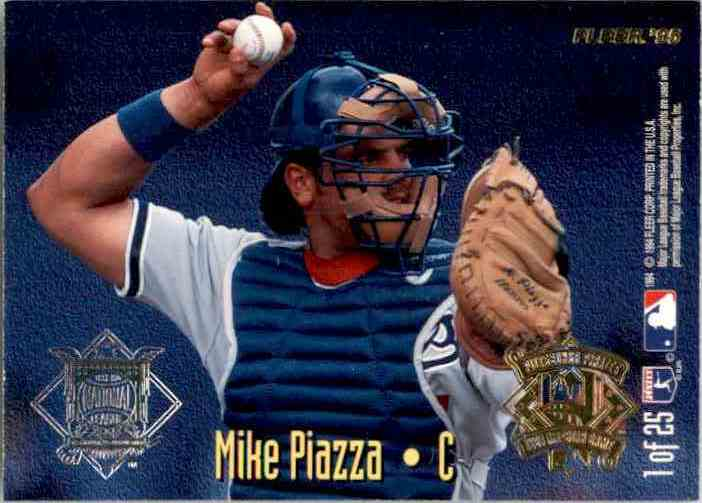 1995 Fleer All-Stars M.Piazza/I.Rodriguez #1 card back image