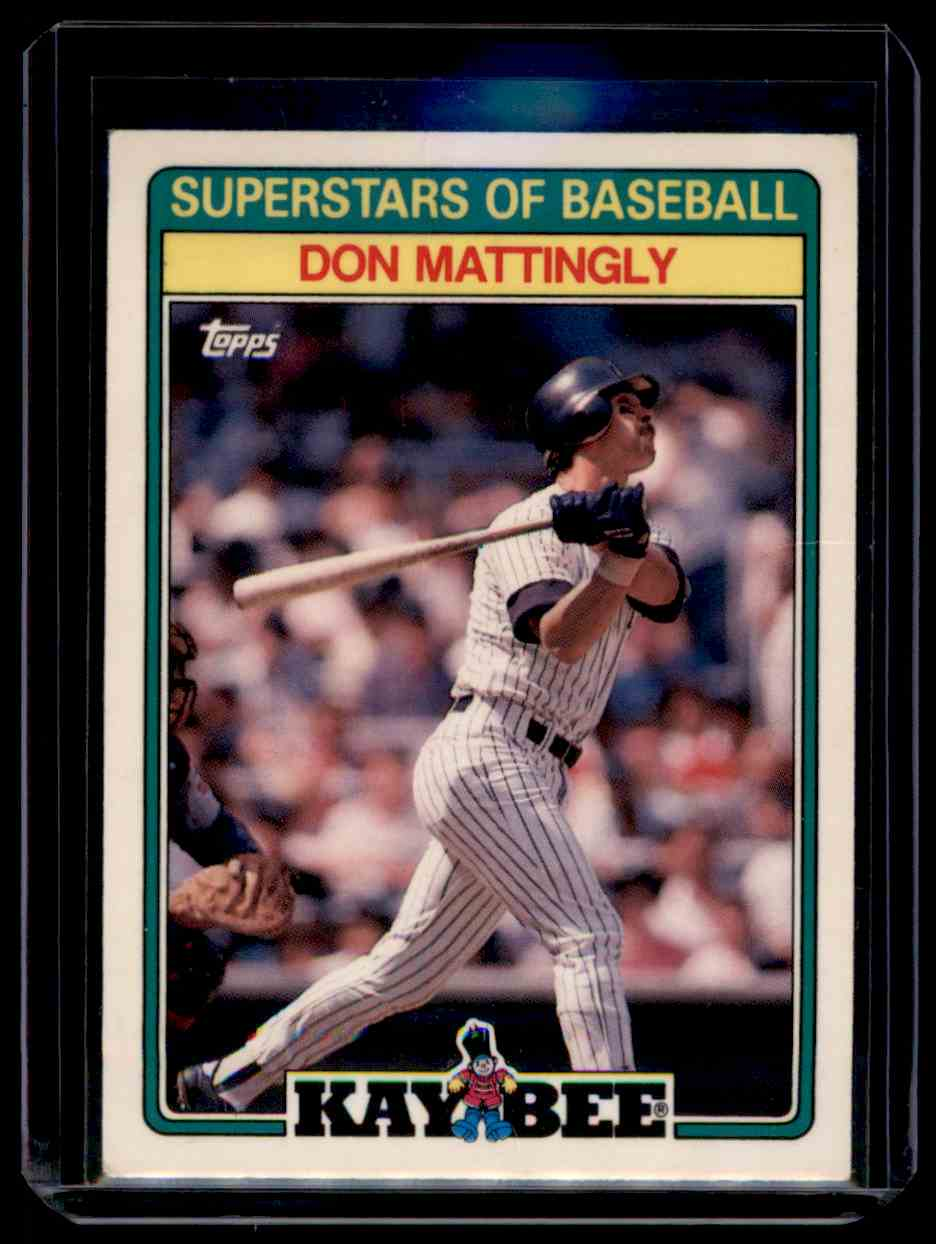 1988 Topps Kay Bee Toys Superstars Of Baseball Don Mattingly #16 card front image