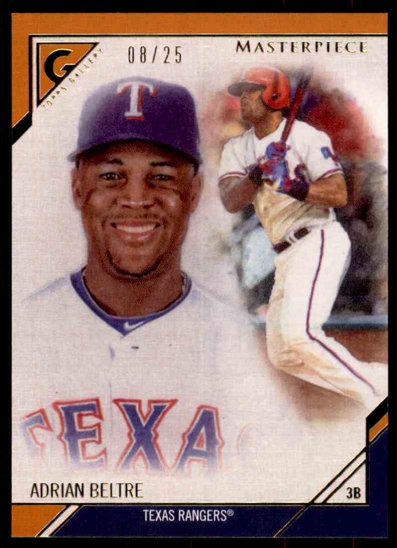 2017 Topps Gallery Masterpiece Orange Adrian Beltre #MP-6 card front image