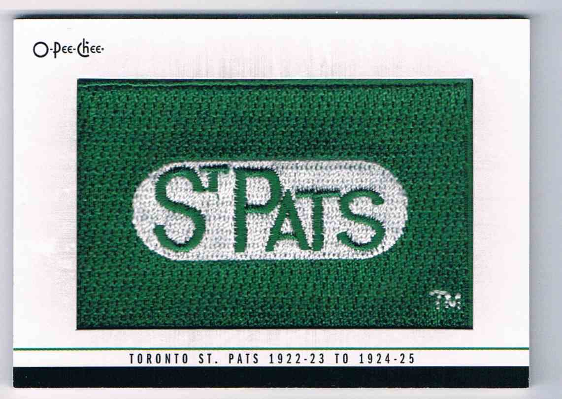 2014-15 O-Pee-Chee Team Logo Patches 1922-23 To 1924-25 #289 card front image