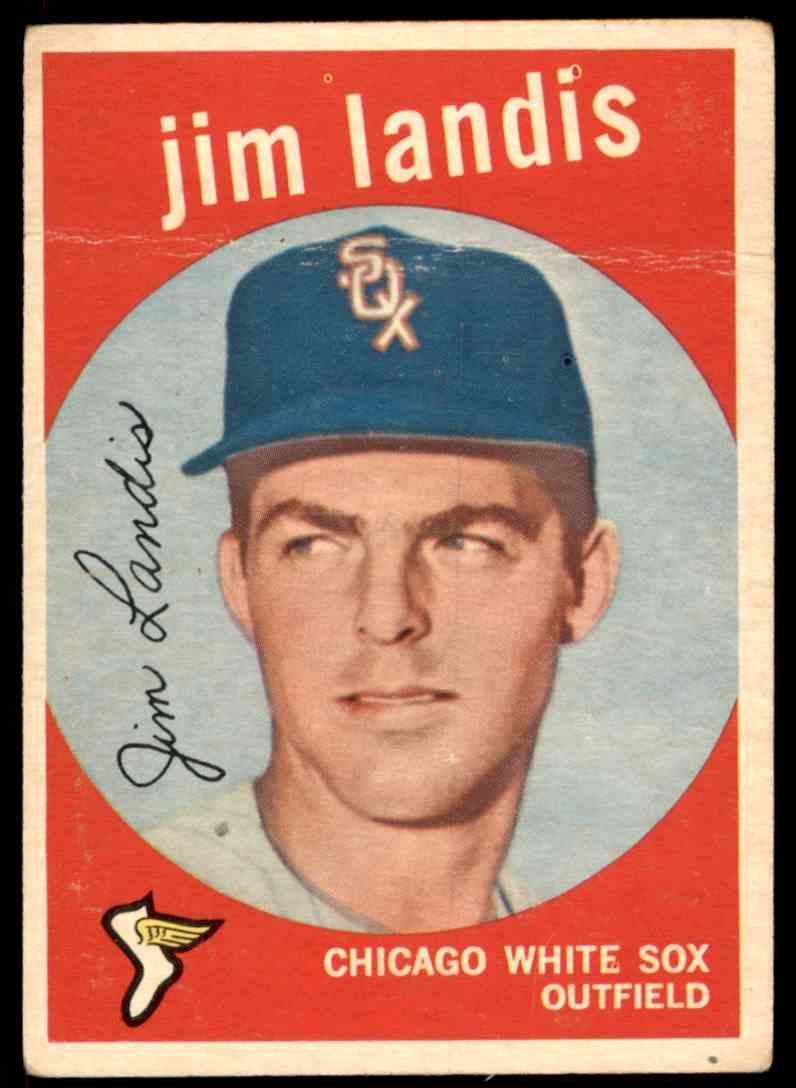 1959 Topps Jim Landis #493 card front image