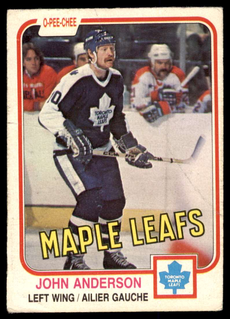 1981-82 OPC John Anderson #313 card front image