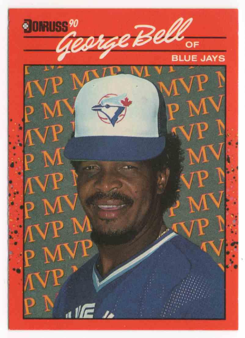 1990 Donruss Bonus MVP's George Bell #BC13 card front image