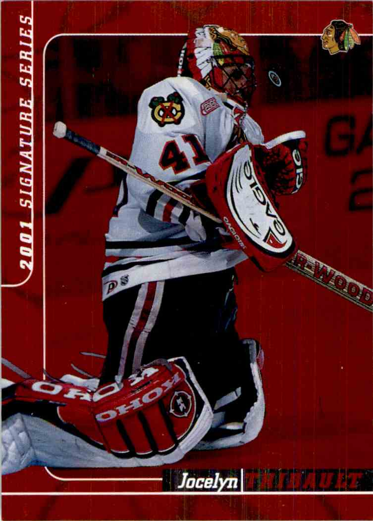 2000-01 In The Game Be A Player Signature Series Ruby Jocelyn Thibault #189 card front image