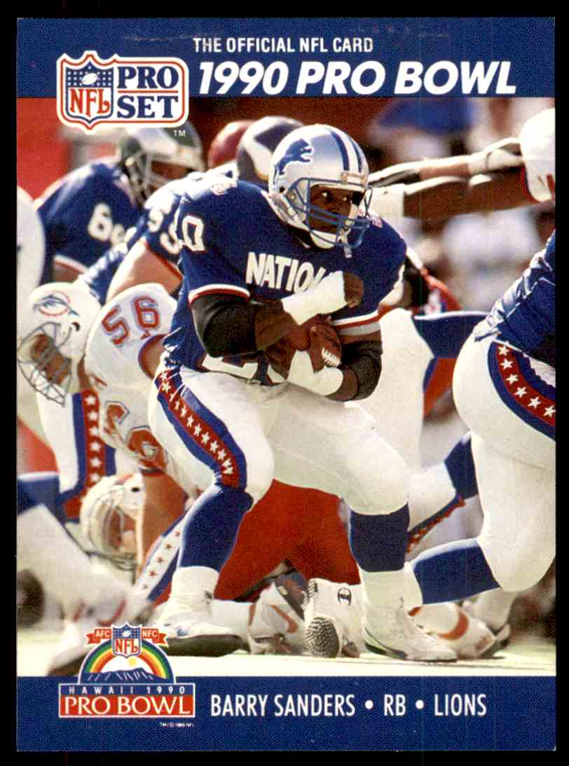 1990 Pro Set Pro Bowl Barry Sanders 413 On Kronozio