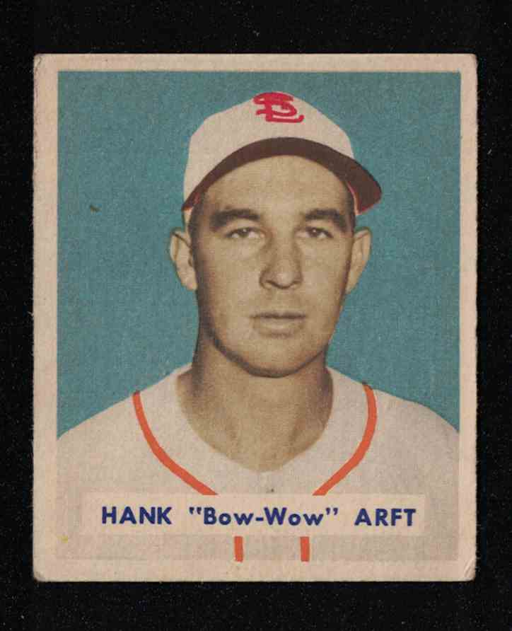 "1949 Bowman Hank ""Bow-Wow"" Arft EX+ #139 card front image"