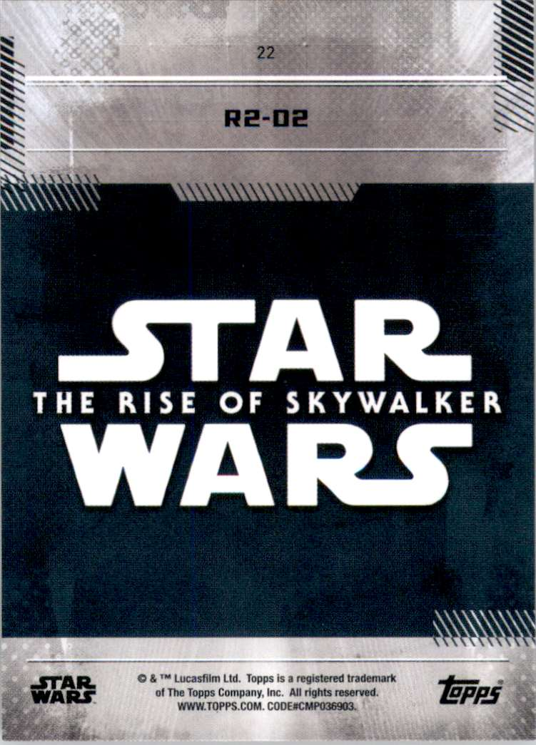 2019 Star Wars The Rise Of Skywalker Series One R2-D2 #22 card back image