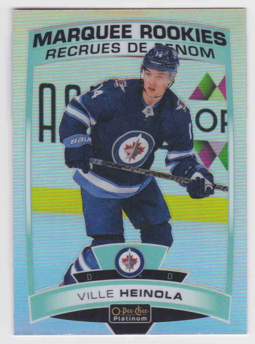 2019-20 Upper Deck Hockey O-Pee-Chee Platinum Ville Heinola - Rainbow #159 card front image
