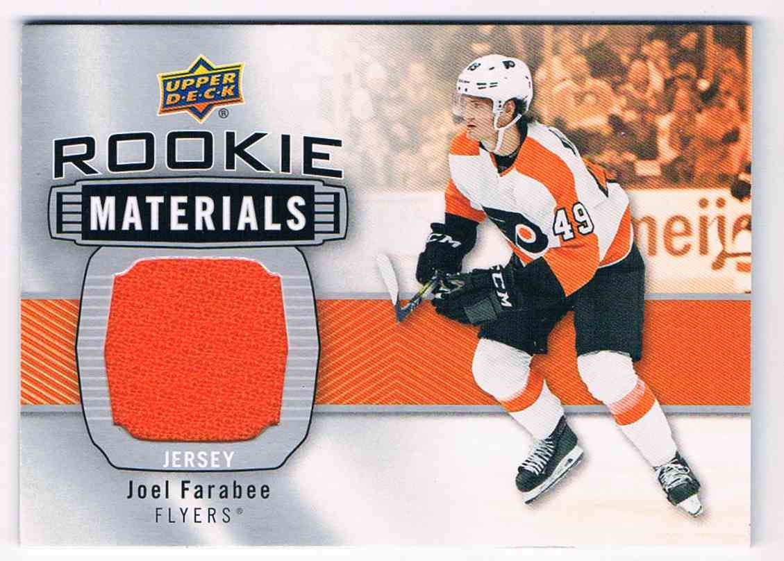 2019-20 Upper Deck Rookie Materials Joel Farabee #RM-JF card front image