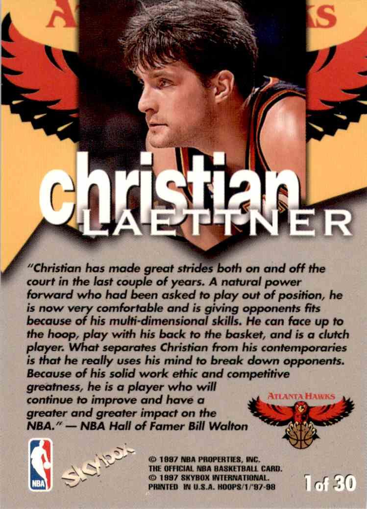 1997-98 Hoops Talkin' Hoops Christian Laettner #1 card back image