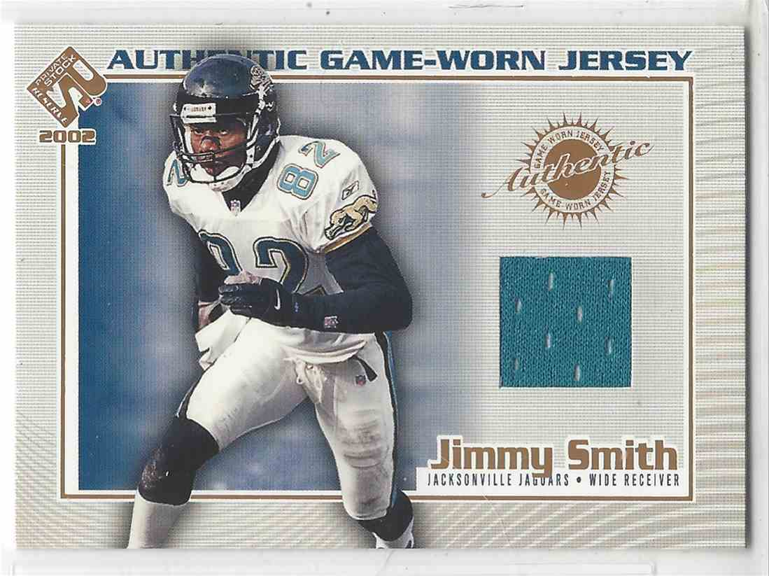 2002 Pacific Private Stock Reserve Authentic Game Worn Jersey Jimmy Smith #62 card front image