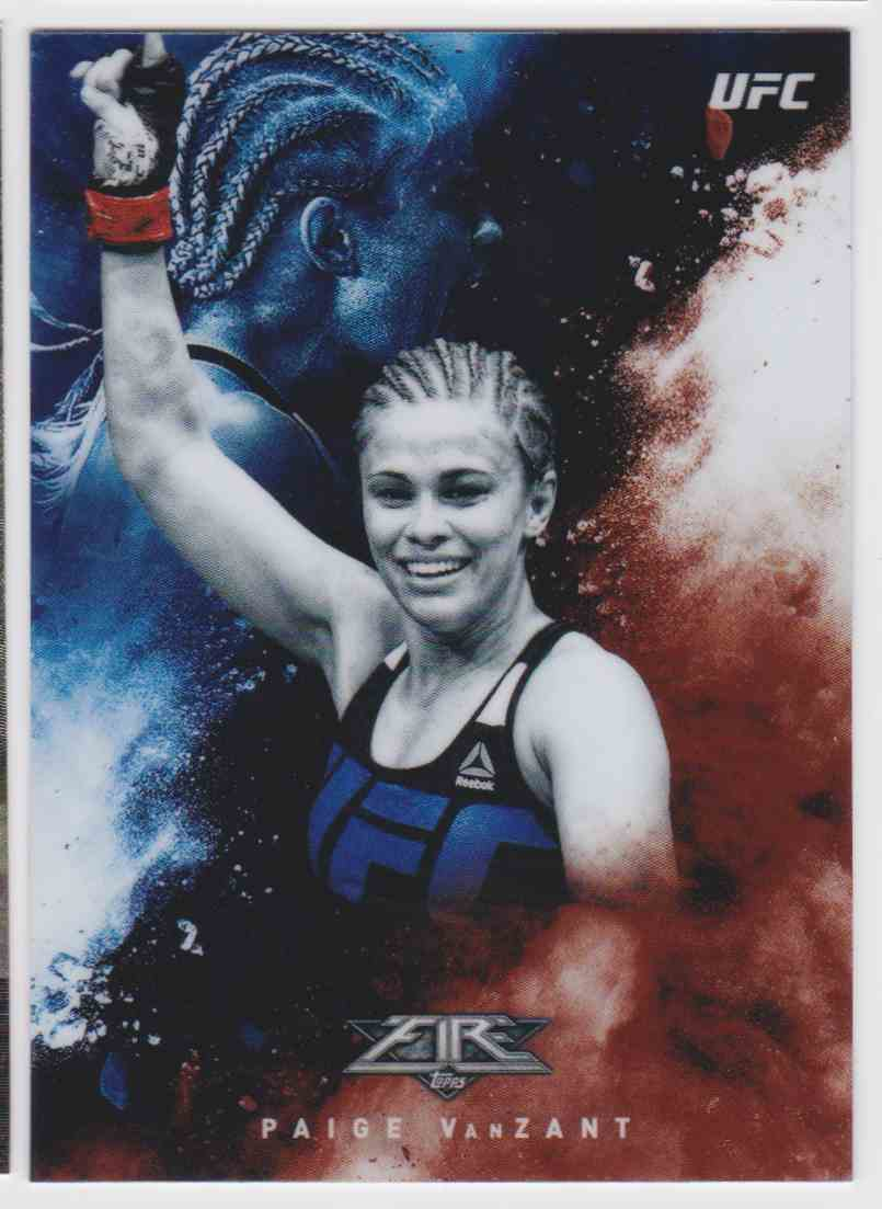2017 Topps UFC Fired Up Paige Vanzant #UF-PVA card front image