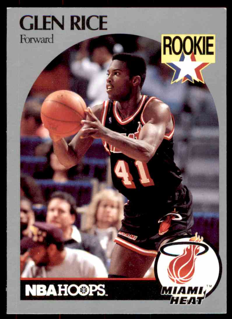 1990 91 Nba Hoops Glen Rice 168 On Kronozio