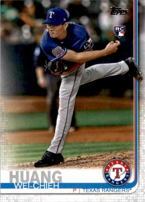 2019 Topps Update Wei-Chieh Huang RC #US212 card front image