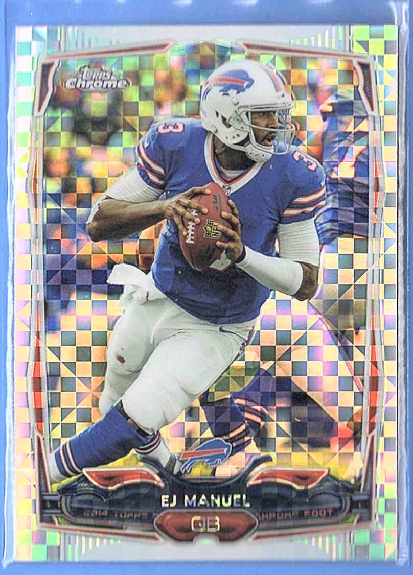 2014 Topps Chrome X-Fractor Ej Manuel #11 card front image