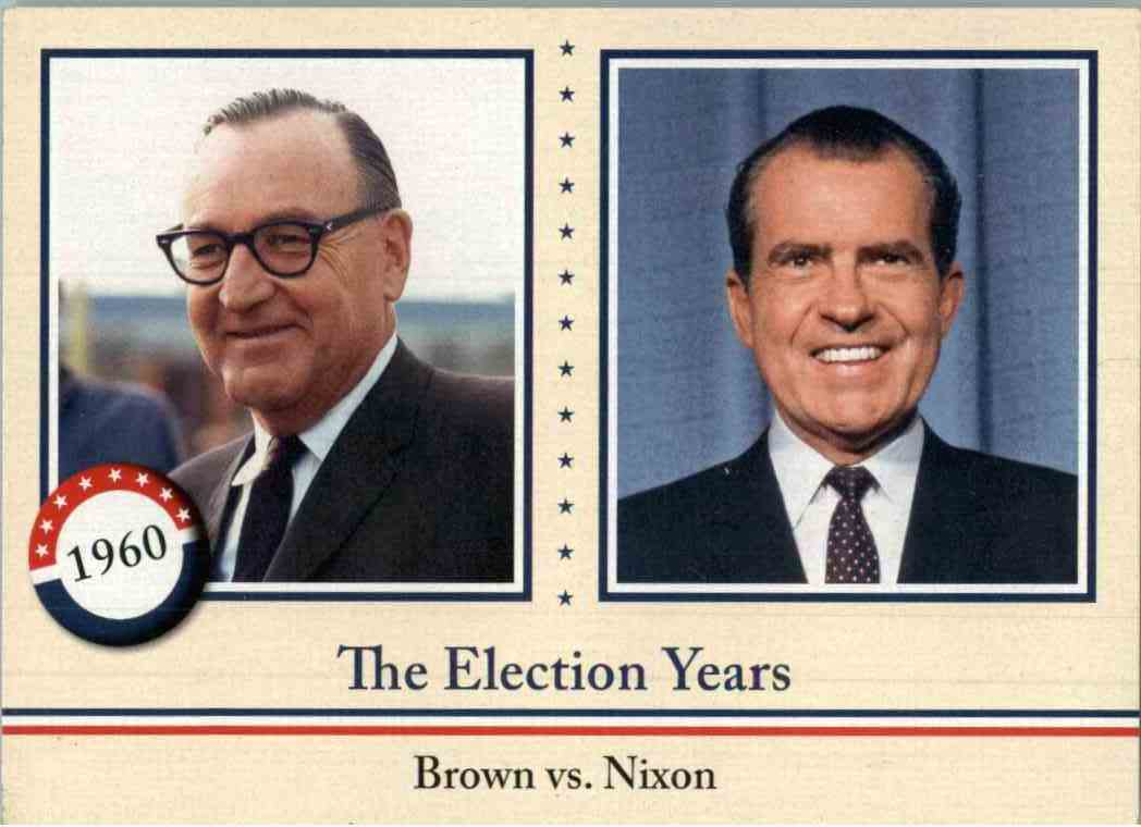 2009 Upper Deck Philadelphia Pat Brown, Richard Nixon #348 card front image